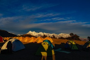 Last rays at the base camp
