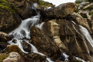 Waterfall on Hampta Pass Trail