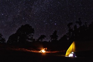 Camping under Stary night