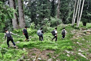 Trail from Parashar Lake to Baggi