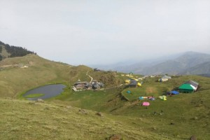 Parashar Lake from Hill top