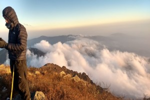 Above the clouds on Sandakphu Trail