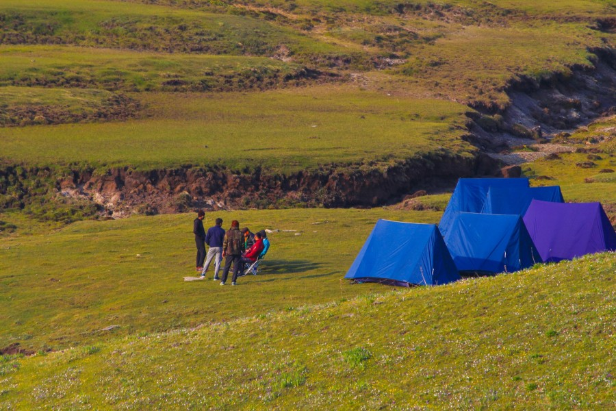 Camping Site at Dayara Bugyal