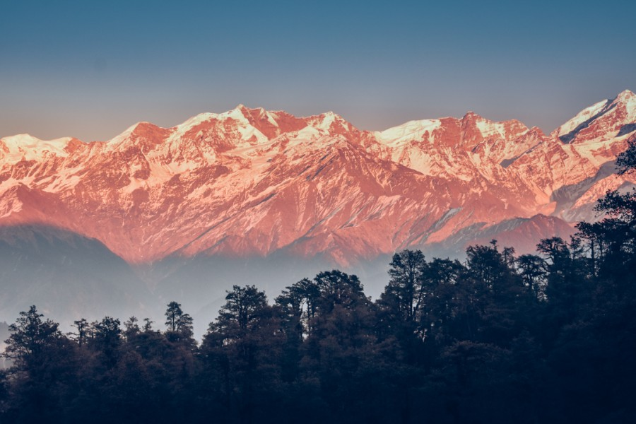 Views of the peaks from Barsu