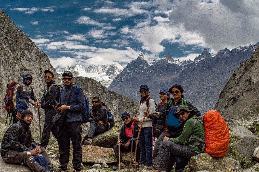 Group during Hampta Pass Trek