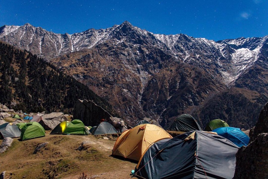 Camping at Triund