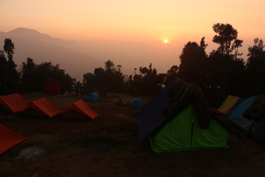 Sunset at Nagtibba Base Camp